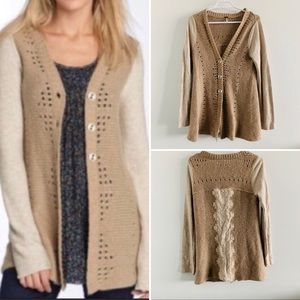 Free People Knitted Two Tone Cardigan